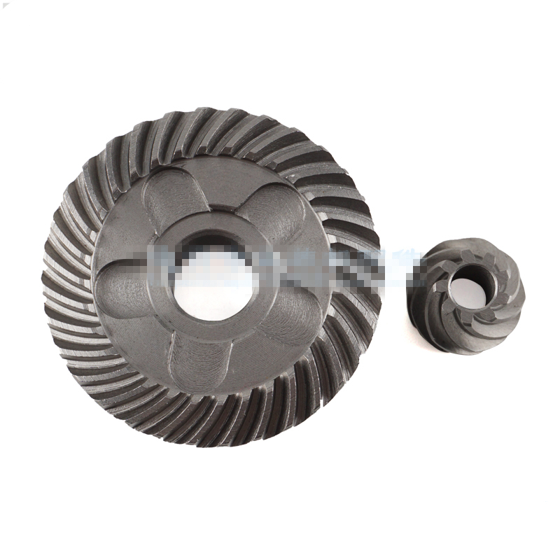 Electric Power Tool Metal Helical Tooth Spiral Bevel Gear Set for Bosch GWS6-100 Angle Grinder angle grinder spare part spiral bevel gear set for hitachi 180 angle grinder page 3