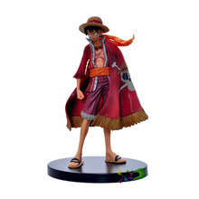 One Piece 15th Anniversary Anime Cloak Luffy Action Figure Toy Statues Model Kits Free Shipping