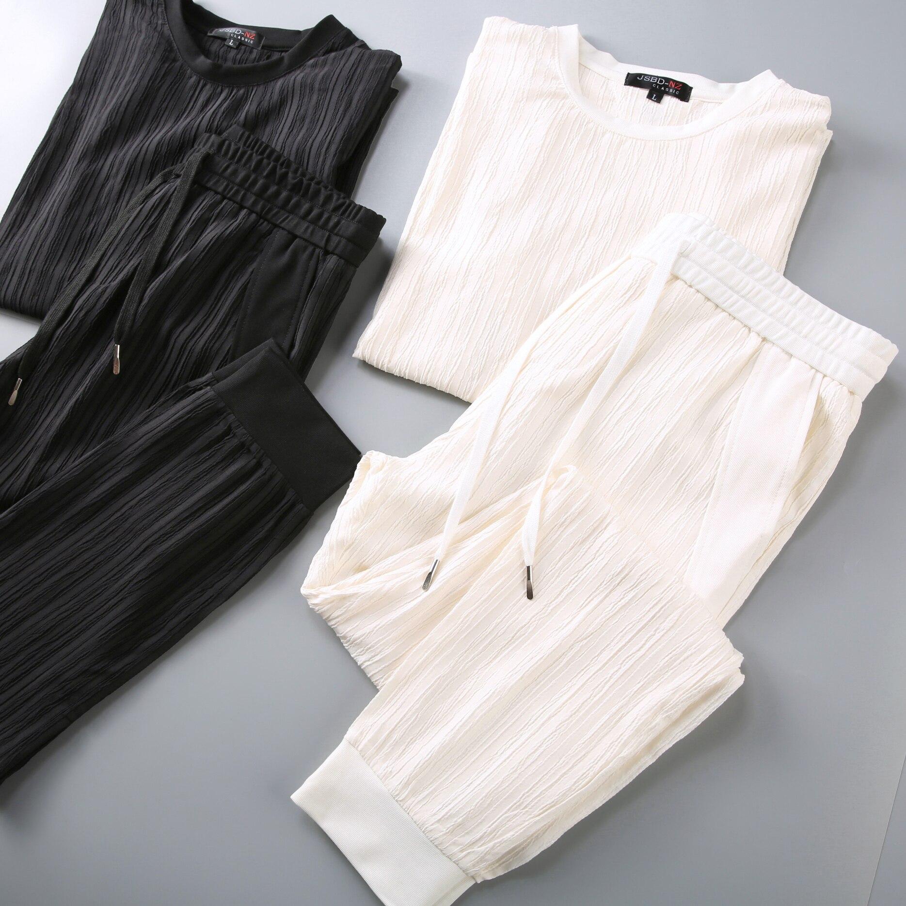 JSBD Summer Linen Set Men's Casual Short-sleeved T-shirt Men's Summer Cotton And Linen Chinese Style Thin Men's Fashion 2019 New