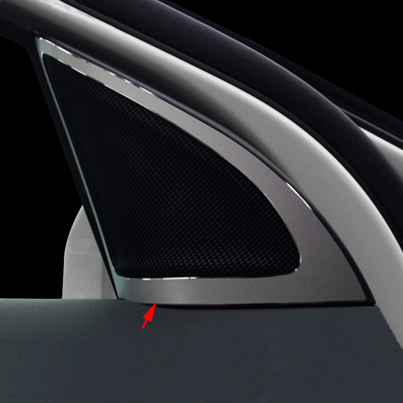 2PCS Alloy Shift Rod Wiper Frame Cover Trim For Benz E Class W212 2010-2015 B