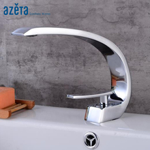AZETA Basin Faucets Modern Bathroom Mixer Tap Brass Washbasin Single Hole Elegant Crane For AT3336