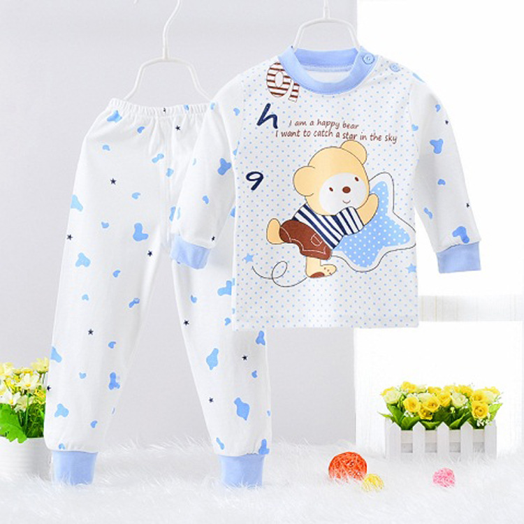 HTB19sb9hDXYBeNkHFrdq6AiuVXaH - Children Clothes 2017 Winter baby Girls boys Clothes Set cottot T-shirt+Pants newborn suit Kids Girl Clothing Set