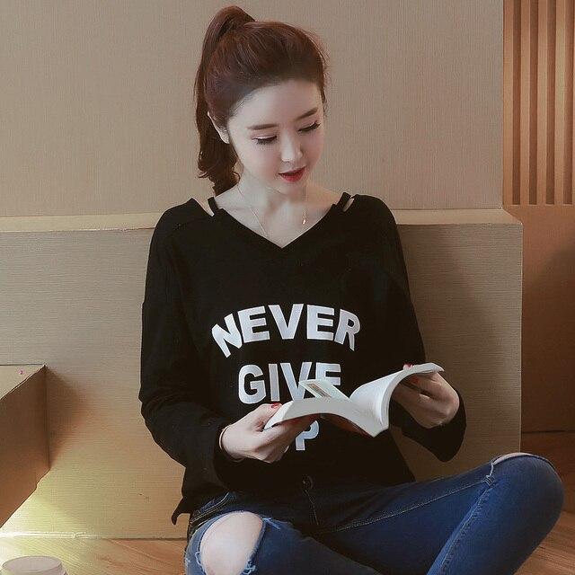 3569d50e5a 2018 nueva Harajuku letra impresa camisetas de las mujeres camiseta  ocasional de las tapas mujeres ropa