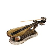 New Arrival 1pc Chinese Buddhism Retro Metal Lute Fairy Garden Craft Decoration