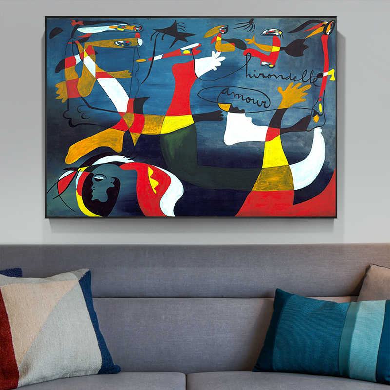 Joan Miró Famous Abstract Oil Painting Home Decoration Big Picture HD Canvas Painting Art Wall Pictures For Living Room Posters
