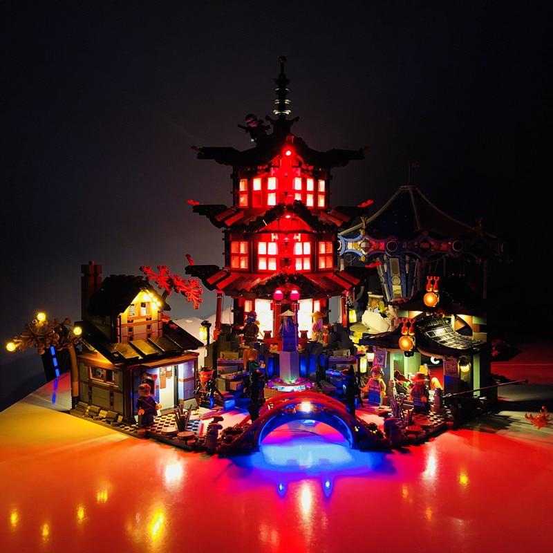 Kit de lumière LED pour les blocs lego Ninjago 70751 et 06022 du TEMPLE Ninja d'airjitzu (non inclus le jeu de briques du temple)