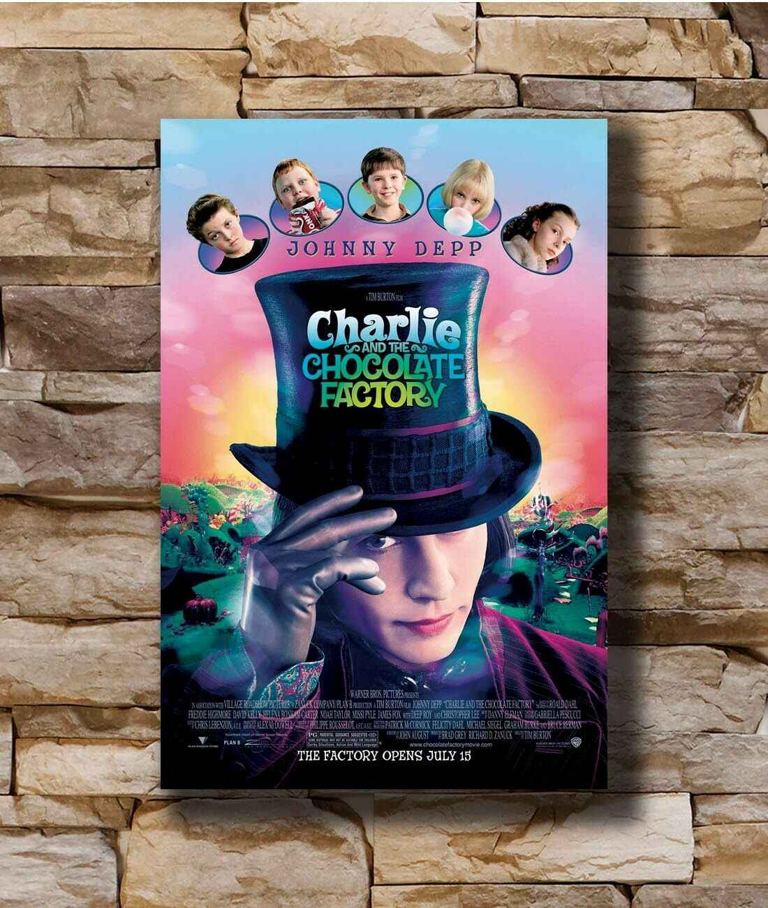 Q0746 Posters and Prints Hot CHARLIE AND THE CHOCOLATE FACTORY MOVIE Sided ORIGINAL Art Poster Canvas Painting Home Decor