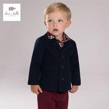 DB4046 дэйв bella baby мальчиков пальто детские одежды ковылять верхняя одежда мальчиков темно-пальто