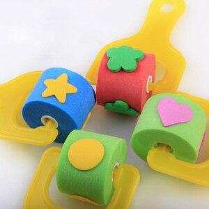 Детские принадлежности для рисования, инструменты для рисования своими руками, губка для граффити, 4 шт., детский роликовый брушер