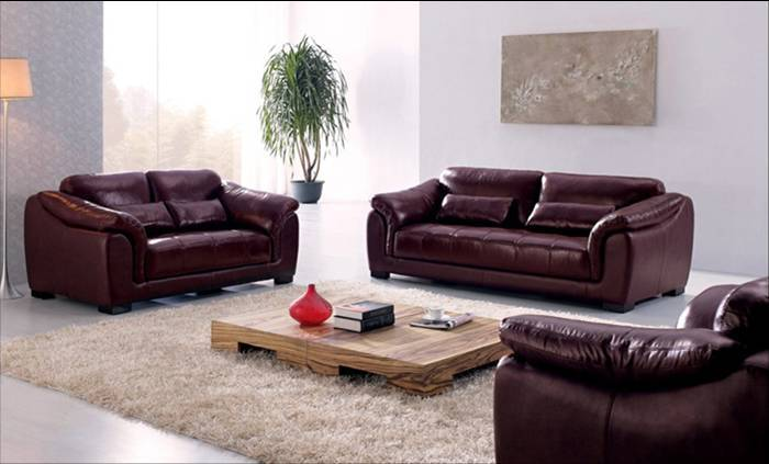 Free Shipping European Style Furniture Hot Sale High Quality Genuine  Leather 123 Sofa, Furniture Living Room Set Free Shipping
