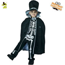 Boys Scary Bloody Skeleton Duke Costumes, Halloween Masquerade Party Cosplay Fancy Dress Kids, Horror Clothing For Carnival Party