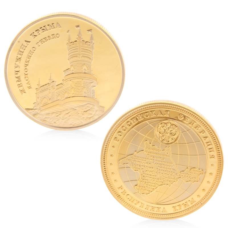 Castle Tale Commemorative Coin Copper Collection Gifts Souvenior With Zinc Alloy