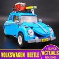 Nueva LEPIN 21003 Creador Serie Escarabajo modelo de Coche de La Ciudad Bloques de Construcción Educativa Compatible 10252 Azul Técnica niños juguete de regalo
