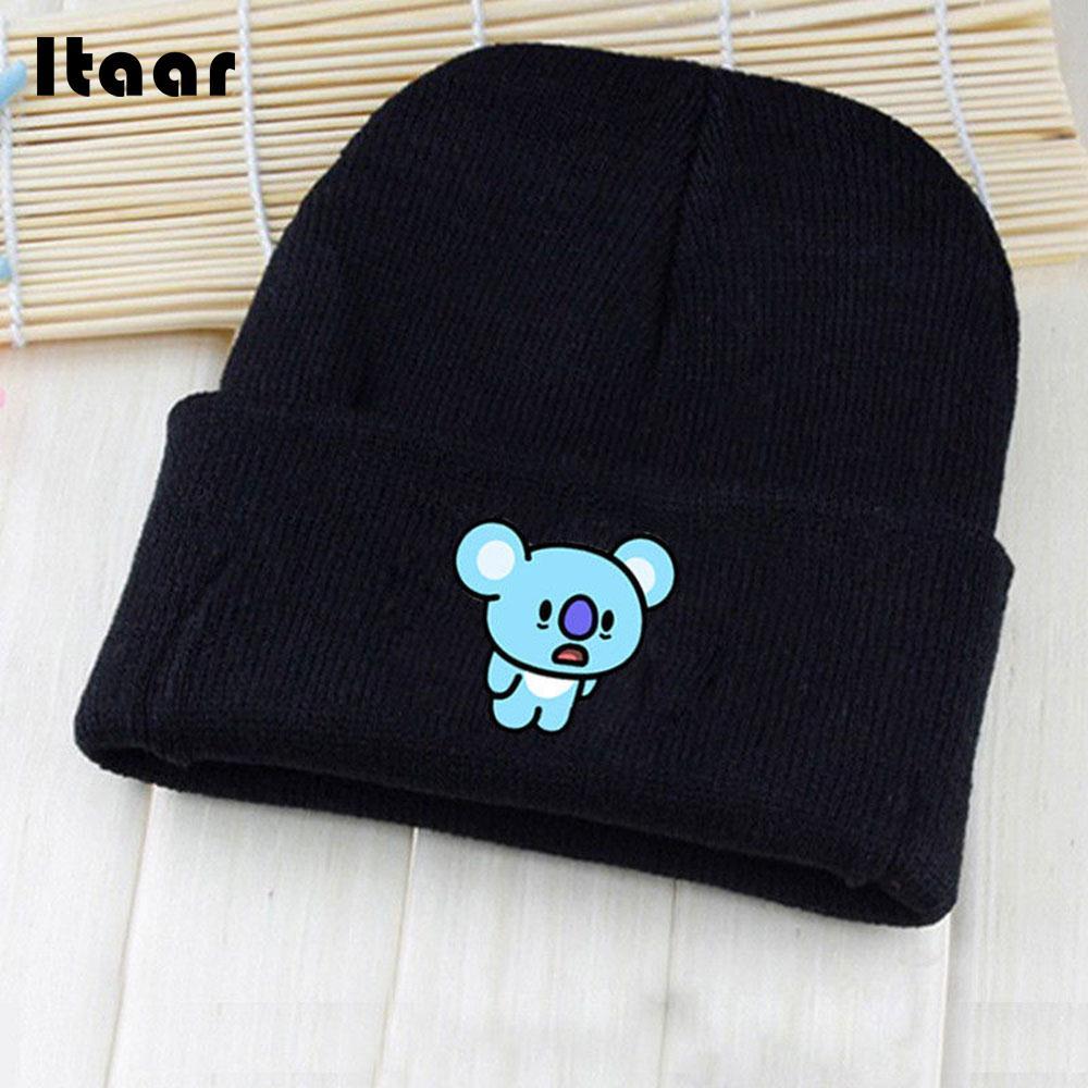 Knitted Cap Bts Van KPOP BTS Hat Bangtan Boys BT21 Cotton Chimmy Dog Beanie Hat