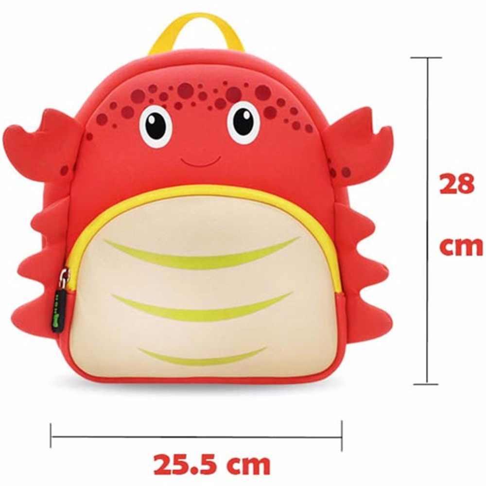 19091e7ed82a ... NOHOO Waterproof School Bags for Girls Cartoon Crab Fashion Printing Backpack  Kids Orthopedic School Bag Child ...