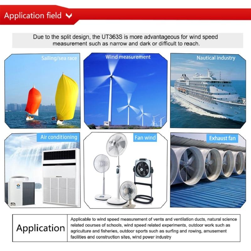 Image 4 - UNI T Wind Speed Meters UT363/UT363BT/UT363S Speed Temperature  Digital Thermometers Pocket Anemometers Handhold ToolsSpeed Measuring  Instruments