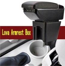 Für Chevrolet LOVA armlehne box zentralen Speicher inhalt aufbewahrungsbox Chevrolet armlehnenkasten mit getränkehalter aschenbecher usb-schnittstelle