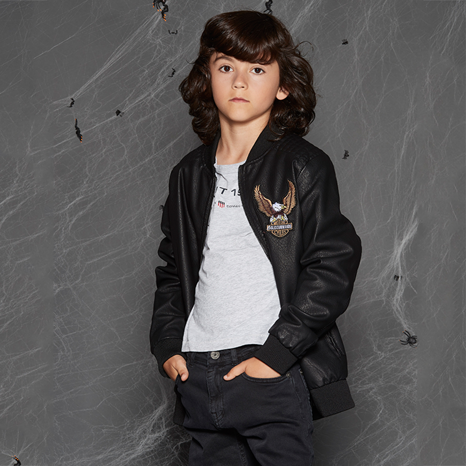 GLO-STORY Shipped From HU Children Boys 2018 Wool Liner Winter Thick Warm Faux Leather Jackets Kids Bomber Coats Clothes 7443 glo story teenage boys winter jackets children boy 2018 casual streetwear patchwork with tape zipper hoodie parkas coats