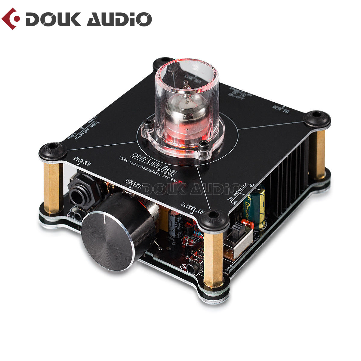 Douk audio Hi-Fi Mini Class A 12AU7 Tube Multi-Hybrid Headphone Amplifier Stereo Pre-Amp Little Bear P10 Home Amp