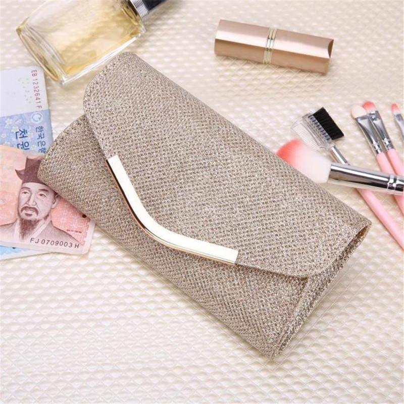 Linen Women Long Wallet Ladies Upscale Evening Party Small Clutch Bag Banquet Purse luxury brand card holder Gold hasp Bag 2017 larsen neon