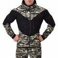 Novo 2017 Camuflagem Homens Da Moda Outono Inverno Hoodies Algodão De Lã Ocasional Masculino Pulôver Dos Homens Crewneck Camisola