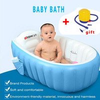 Baby Tubs Inflatable tub Portable children inflator bathtub cushions warm folding Bath & Shower Products blue,pink PVC Babies