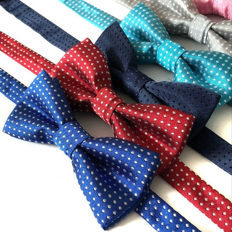 100PCS Pet Cat Dog Bow Tie Polka Dot Adjustable Buckle Neck Ties Collar Polyester Kitten Puppy Decoration Accessories Wholesale in Dog Accessories from Home Garden