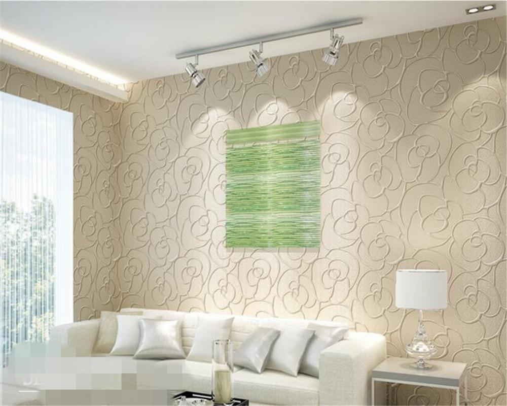 Carta Da Parati Tessuto us $30.01 39% di sconto|beibehang papier peint rilievo carta da parati  tessuto non tessuti camera da letto moderna semplice soggiorno tv sfondo  carta