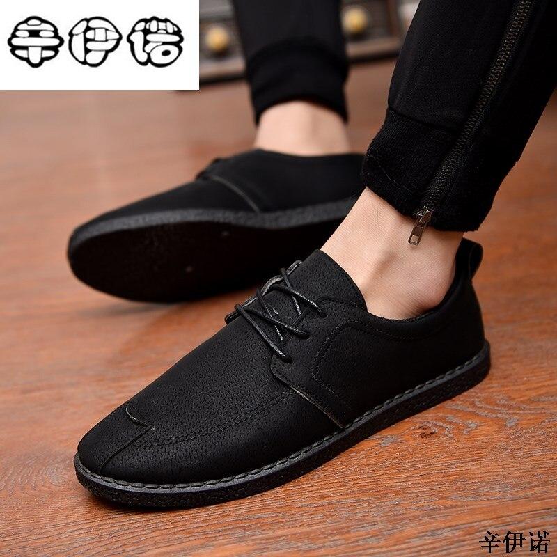 € 9.13 41% de DESCUENTO|Zapatos casuales baratos de alta calidad de moda para hombre, zapatos transpirables para hombre, zapatos negros grises para