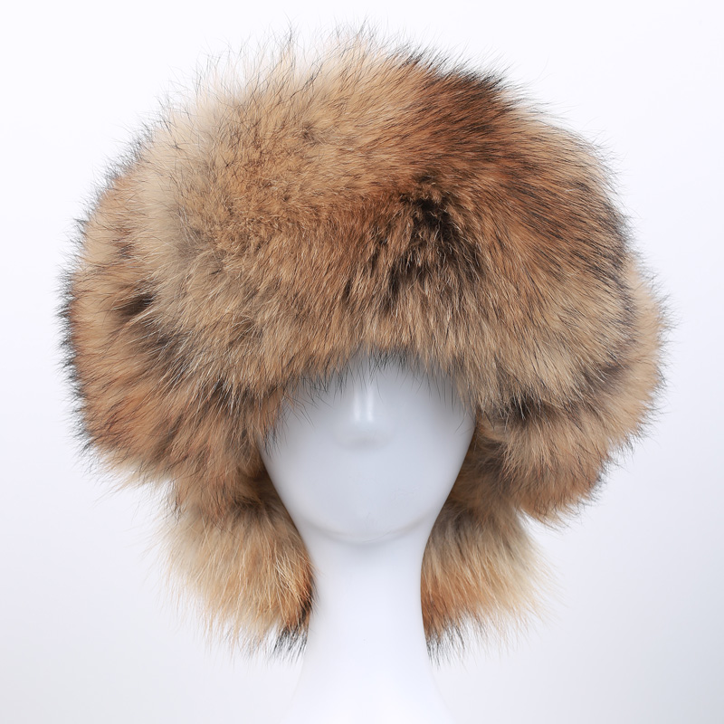 2017 hot sale 100% natural silver fox fur men's hat winter male fox fur bombing hat men's raccoon fur ear warm winter must NK-01