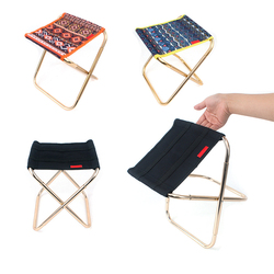 Printed Oxford Mini Folding Chair Portable Lightweight Seat Bench With Storage Bag Outdoor Camping Fishing Picnic Tools