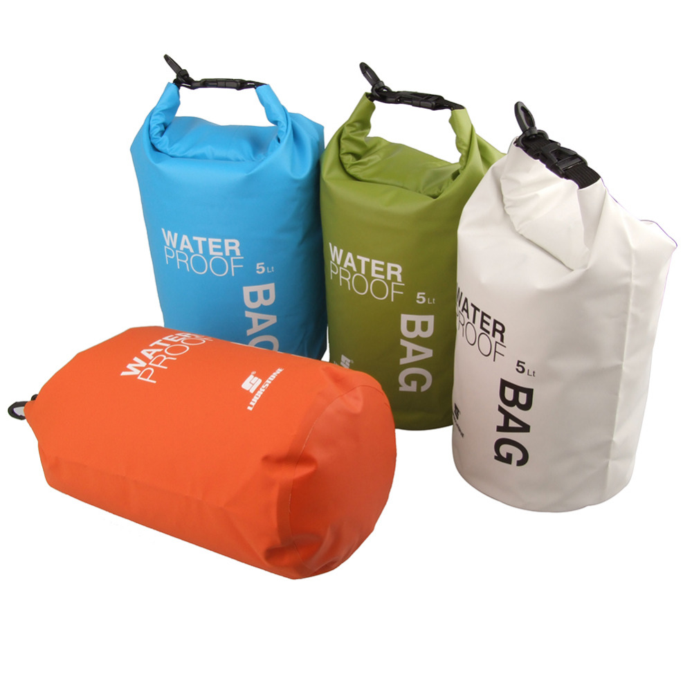 5L Outdoor Waterproof Bags Ultralight Drifting Rafting Swimming Dry Bag Camping Hiking Foldable Pouch Bag PVC Waterbag