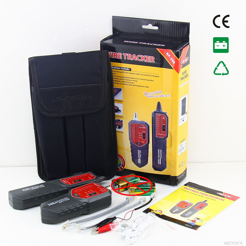 NOYAFA NF-268 Wire Tracker Network Telephone Cable Tracker Wire Toner Tracer Tester with Anti-jamming NF_268 nf 806r communication cable wire tone tracker combo with carrying pouch 2 x 6f22 9v