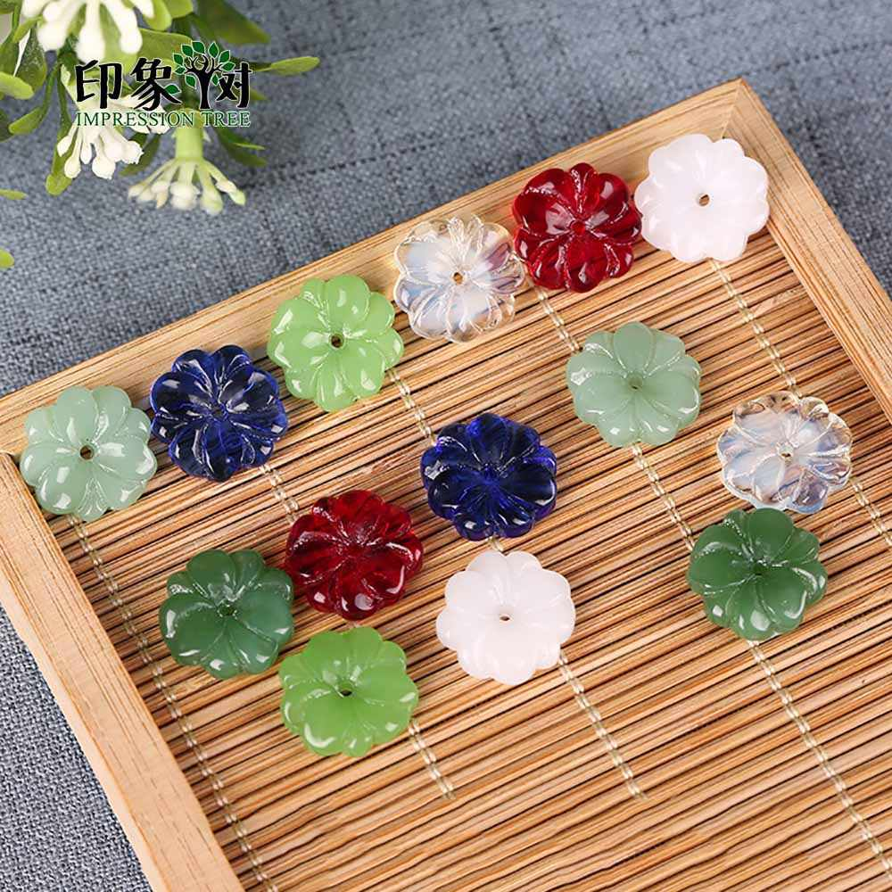 10pcs 15mm Rainbow Color Lampwork Bead Glass Candy Daisy Shape Mermaid Bead DIY Lampwork Charm Bead For Bracelet Making 16006