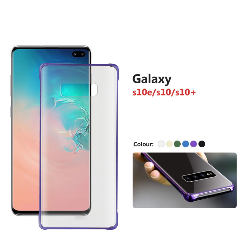 Plating Texture Coque For Samsung S10 Case Color Edge Cover For Galaxy S10e e Lite Plus 360 Degree Protection Clear Hard Funda