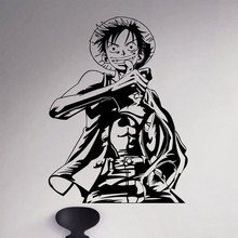 Monkey D. Luffy Wall Decal Straw Hat Vinyl Sticker Anime Home Art Decor sticker Comic Japanese cartoon Decoration Kids Room 3135