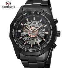 승자 남자 시계 패션 뜨거운 판매 해골 브랜드 자동 스테인레스 스틸 팔찌 캐주얼 손목 시계 색상 블랙 fsg8042m4b1
