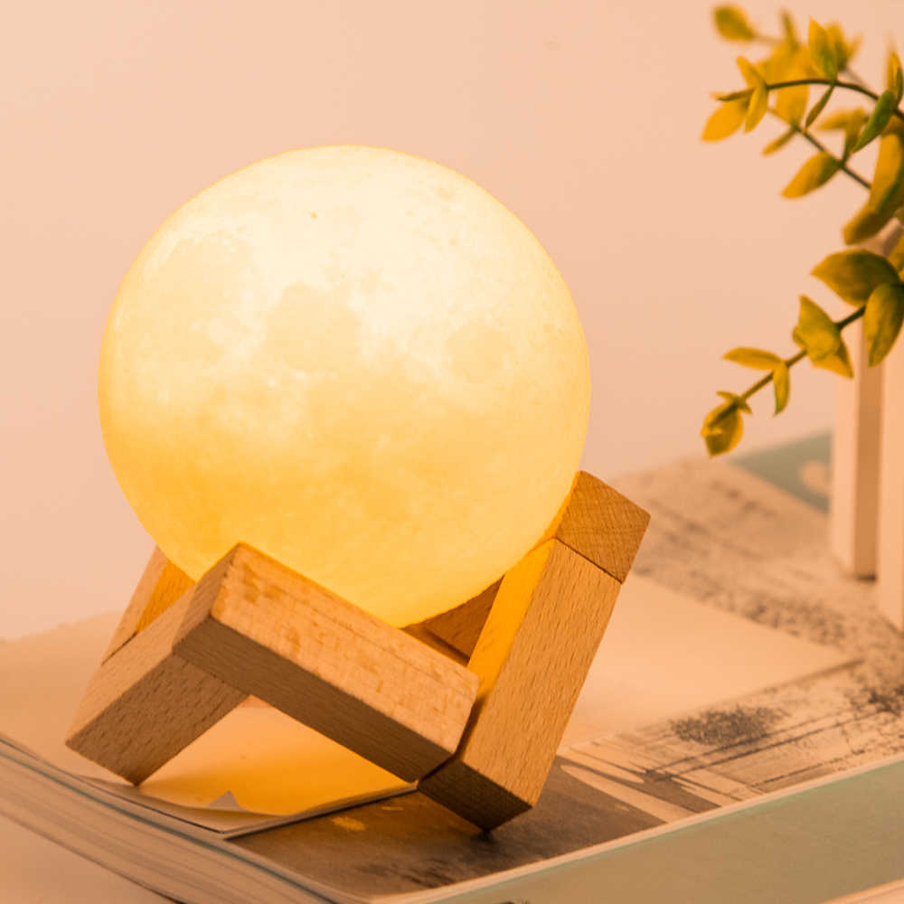 Stand Print Globe With Moon Light 3d LampGlowing Lamp XOkZiuPT