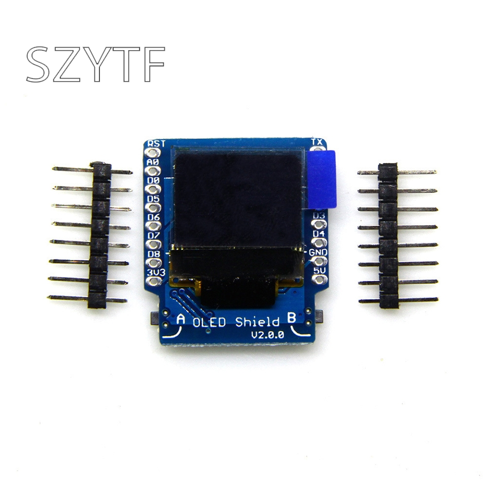 OLED Shield Display V2.0.0 For Wemos D1 Mini 0.66