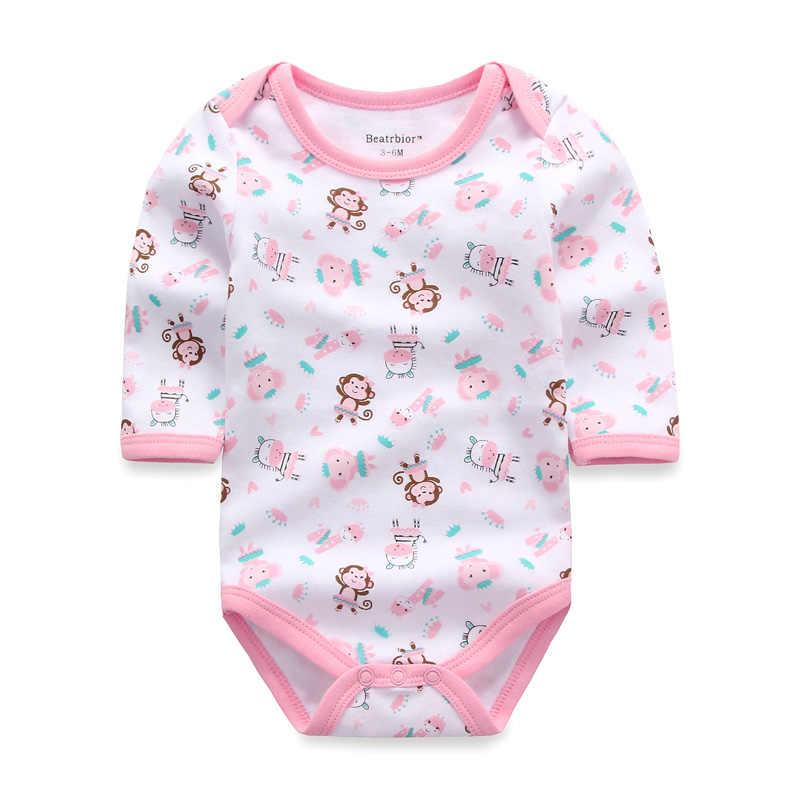 Для маленьких девочек одежда тела для новорожденных боди с длинным рукавом 100% хлопок Зима Детский костюм комбинезоны спецодежда Одежда для малышей