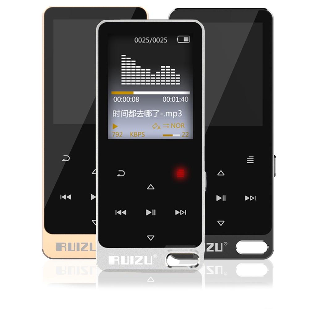 Original Mp3 Player 8GB Touch Screen RUIZU X19 1 8 inch Speaker Sport Mp3 Music Player