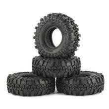 4 pces austar ax-4020 110mm 1.9 Polegada 1/10 pneus de esteira rolante de rocha para d90 scx10 axial rc4wd tf2 rc carro