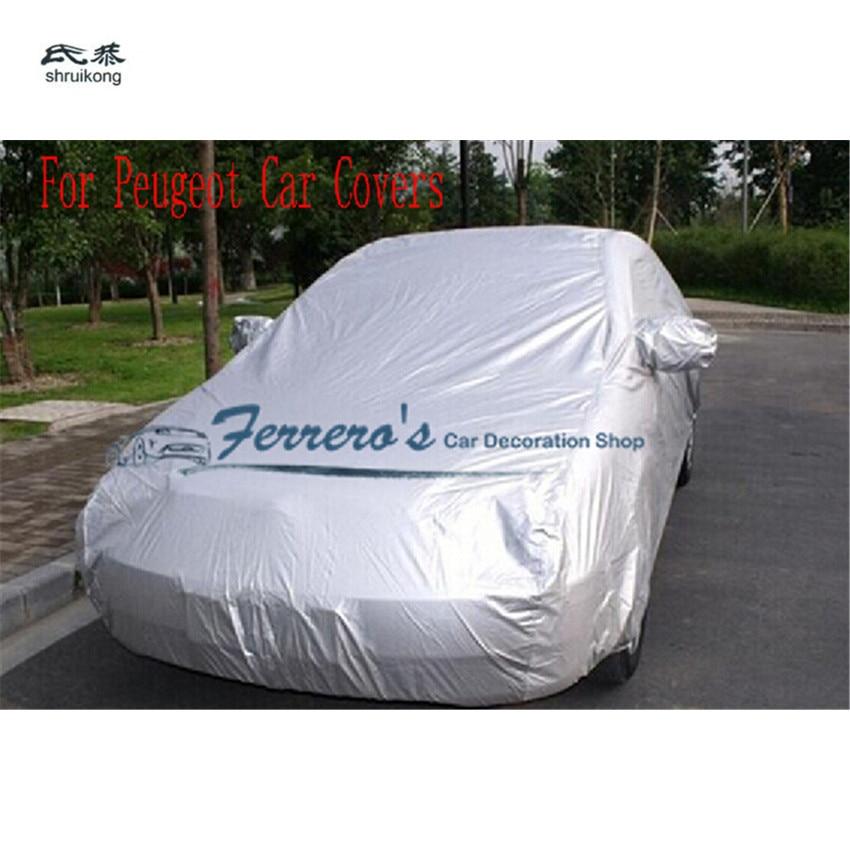 Autohoezen Waterdicht Zon Uv Sneeuw Dust Regenbestendig Bescherming Grijs Voor Peugeot 206 207 301 307 308 408 508 2008 3008 4008 Rcz