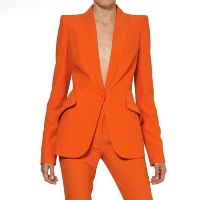 Women Pant Suits Ladies Custom Made Formal Business Office Tuxedo Jacket+Pants Suits Female Office Uniform