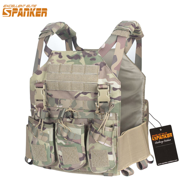EXCELLENT ELITE SPANKER Outdoor Tactical Molle Nylon Module Vest + AK Magazine Holster Camo Hunting Combat Training Equipment usb rechargeable intelligent hydrogen rich water bottles ionizer portable glass maker ionizer generator 350ml super antioxidants