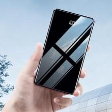 Новое поступление, внешний аккумулятор 20000 мА/ч с зеркальным дисплеем, внешний аккумулятор, портативное зарядное устройство, повербанк, двойной USB для Xiaomi samsung
