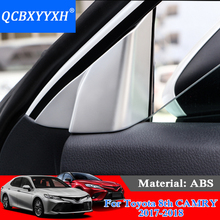 QCBXYYXH Car Styling Car Front Door A Column Horn Frame Horsing Sequins Door small stereo ring Sequins For Toyota 8th Camry 2018