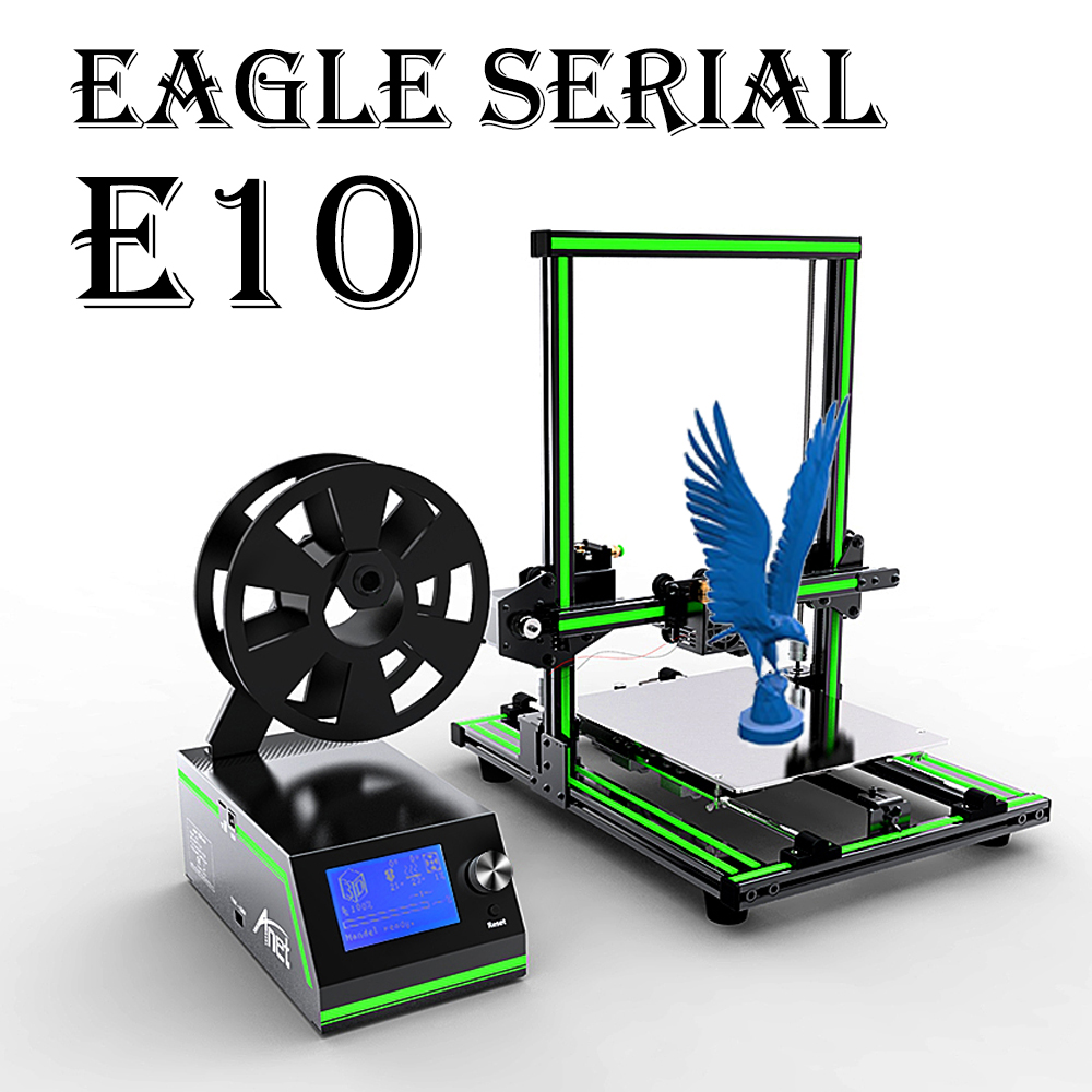 Anet E10 E12 Large 3D Printer Pre Assemble Reprap Prusa I3 3D Printer with 10m PLA