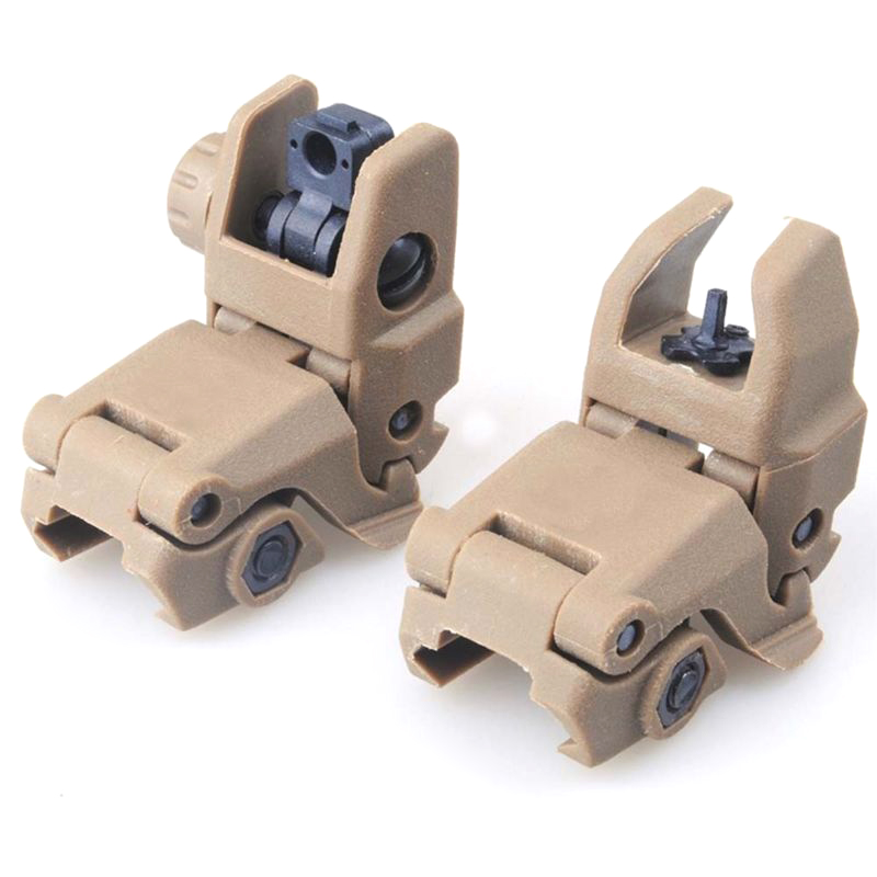 2pcs Front & Rear Transition Backup Sights Mount Tactical Hunting caza Foldable Flip-up Iron Sights for Airsoft Rifle Sight2pcs Front & Rear Transition Backup Sights Mount Tactical Hunting caza Foldable Flip-up Iron Sights for Airsoft Rifle Sight