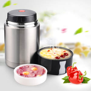 Food-Soup Containers Lunch-Box Vacuum Flasks Stainless-Steel Large-Capacity Portable